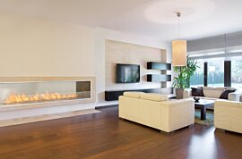Firebox 2100SS Single Sided Fireplace - In-Situ Image by EcoSmart Fire