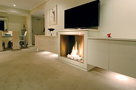 Firebox 900SS Single Sided Fireplace - In-Situ Image by EcoSmart Fire