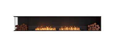 Flex 122LC.BX2 Left Corner Fireplace - Studio Image by EcoSmart Fire
