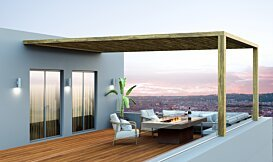 Gin 90 (Dining) Outdoor Fireplace - In-Situ Image by EcoSmart Fire