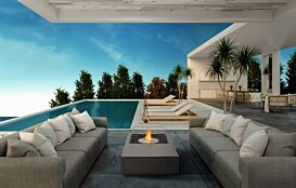 Manhattan 50 Outdoor Fireplace - In-Situ Image by EcoSmart Fire