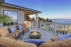 Pod 30 Outdoor Fireplace - In-Situ Image by EcoSmart Fire
