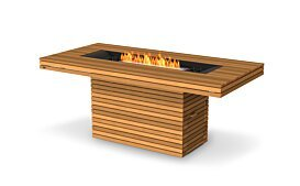 Gin 90 (Bar) Outdoor Fireplace - Studio Image by EcoSmart Fire