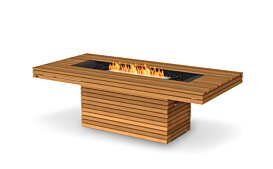Gin 90 (Dining) Outdoor Fireplace - Studio Image by EcoSmart Fire