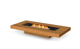 Gin 90 (Low) Outdoor Fireplace - Studio Image by EcoSmart Fire