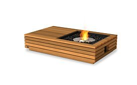 Manhattan 50 Outdoor Fireplace - Studio Image by EcoSmart Fire