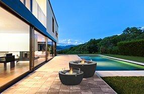 Outdoor Deck -  Freestanding Fireplace by EcoSmart Fire