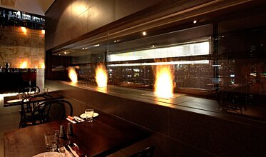 Hurricane's Grill & Bar - Built-In Fireplaces
