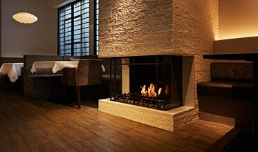 Scope 340 Fireplace Grate - In-Situ Image by EcoSmart Fire