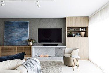 SJS Interior Design - Built-In Fireplaces