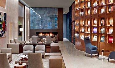 St Regis Hotel Lobby 2 - Built-In Fireplaces