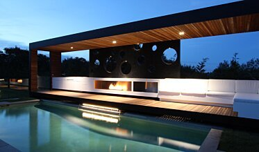 Portsea Private Pool Pavilion - Built-In Fireplaces