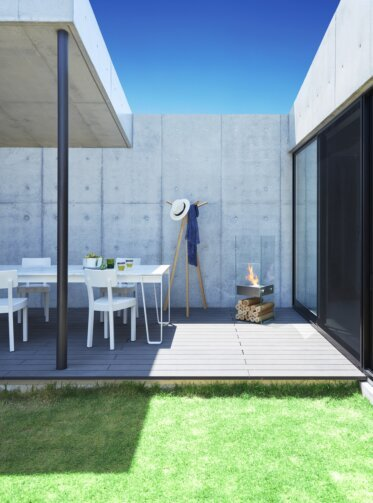 Private Residence Courtyard - Outdoor Fireplaces
