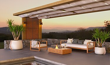 Outdoor entertaining area - Outdoor Fireplaces
