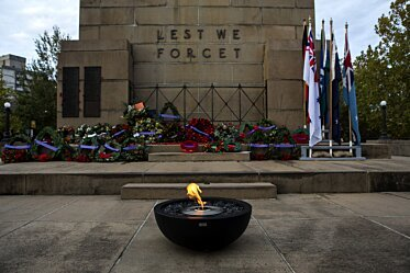 North Sydney ANZAC Day Dawn Service - Fire Pits