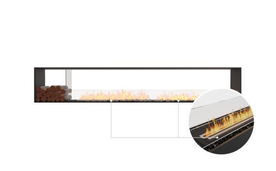 Flex 122DB.BX1 Double Sided - Ethanol - Black / Black / Installed View by EcoSmart Fire