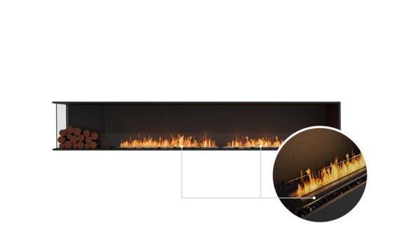 Flex 122LC.BXL Left Corner - Ethanol - Black / Black / Installed View by EcoSmart Fire