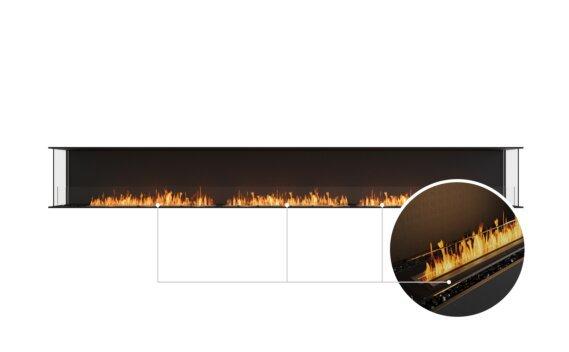 Flex 158 - Ethanol - Black / Black / Installed View by EcoSmart Fire