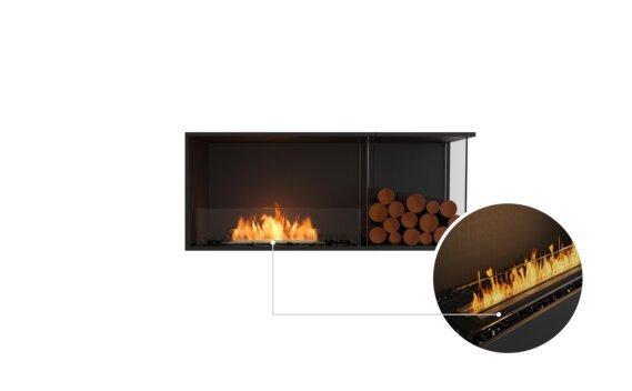 Flex 50RC.BXR Right Corner - Ethanol - Black / Black / Installed View by EcoSmart Fire