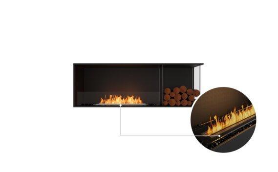Flex 60RC.BXR Right Corner - Ethanol - Black / Black / Installed View by EcoSmart Fire