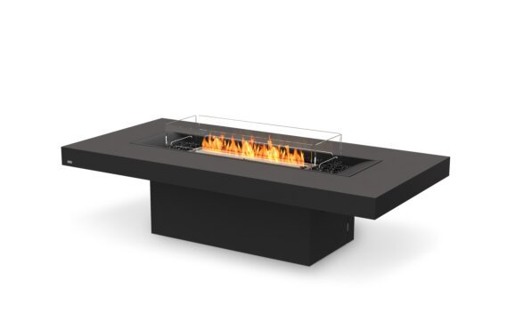 Gin 90 (Chat) Fire Table - Ethanol - Black / Graphite / Optional Fire Screen by EcoSmart Fire