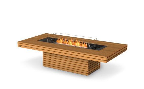 Gin 90 (Chat) Fire Table - Ethanol - Black / Teak / Optional Fire Screen by EcoSmart Fire