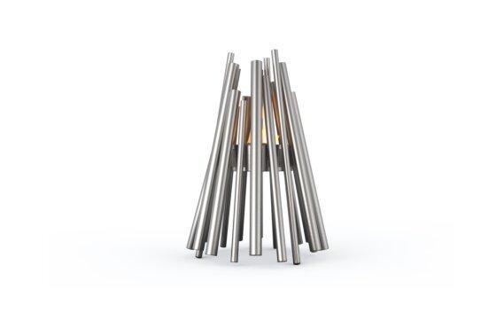 Stix Fire Pit - Ethanol - Black / Stainless Steel by EcoSmart Fire