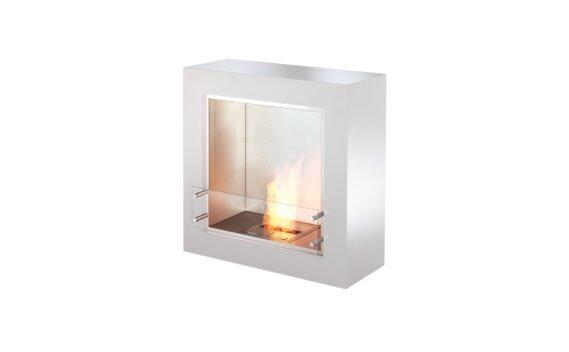 Cube Designer Fireplace - Ethanol / White by EcoSmart Fire