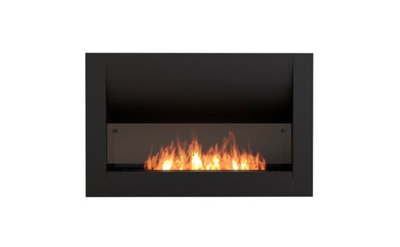 Firebox 1100CV Curved Fireplace - Ethanol / Black / Front View by EcoSmart Fire