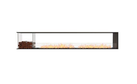 Flex 122PN.BXL Peninsula - Ethanol / Black / Installed View by EcoSmart Fire