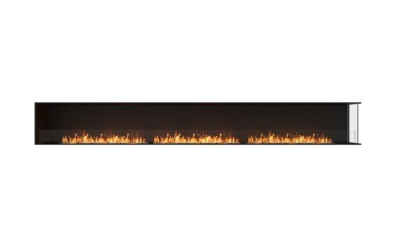 Flex 158RC Right Corner - Ethanol / Black / Installed View by EcoSmart Fire