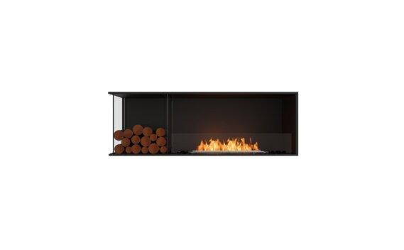 Flex 60LC.BXL Left Corner - Ethanol / Black / Installed View by EcoSmart Fire