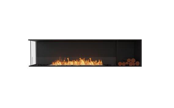 Flex 86LC.BXR Left Corner - Ethanol / Black / Installed View by EcoSmart Fire
