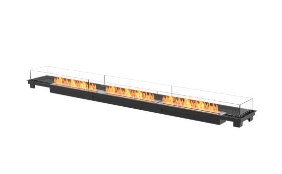 Linear 130 Fire Pit Kit - Ethanol / Black / Indoor Safety Tray by EcoSmart Fire