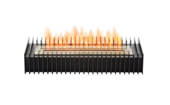 Scope 700 Fireplace Grate - Ethanol / Black / Front View by EcoSmart Fire