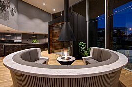 AB3 Modern Fireplace - In-Situ Image by EcoSmart Fire