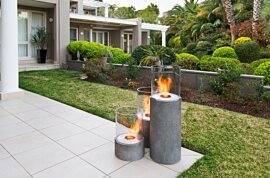 Lighthouse 600 Outdoor Fireplace - In-Situ Image by EcoSmart Fire