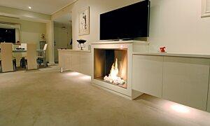 Firebox 900SS Single Sided Fireplace - In-Situ Image by EcoSmart Fire