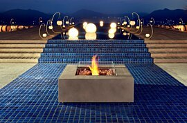 Base 40 Outdoor Fireplace - In-Situ Image by EcoSmart Fire
