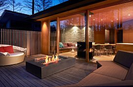 Wharf 65 Outdoor Fireplace - In-Situ Image by EcoSmart Fire