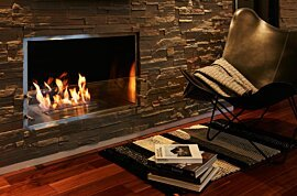 Firebox 1000SS Premium Fireplace - In-Situ Image by EcoSmart Fire