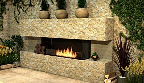 Flex 104BY.BX2 Flex Fireplace - In-Situ Image by EcoSmart Fire