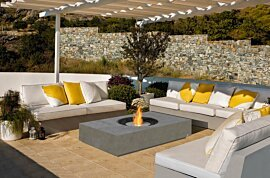 Martini 50 Outdoor Fireplace - In-Situ Image by EcoSmart Fire