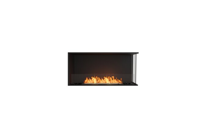 Flex 42RC Right Corner - Ethanol / Black / Installed View by EcoSmart Fire