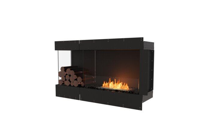 Flex 50LC.BXL Left Corner - Ethanol / Black / Uninstalled View by EcoSmart Fire