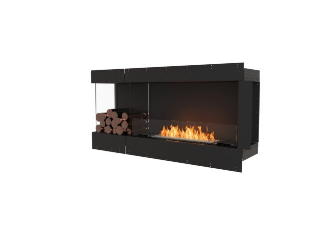 Flex 60LC.BXL Left Corner - Ethanol / Black / Uninstalled View by EcoSmart Fire