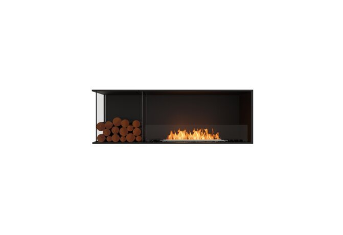 Flex 60LC.BXL Left Corner - Ethanol / Black / Installed View by EcoSmart Fire