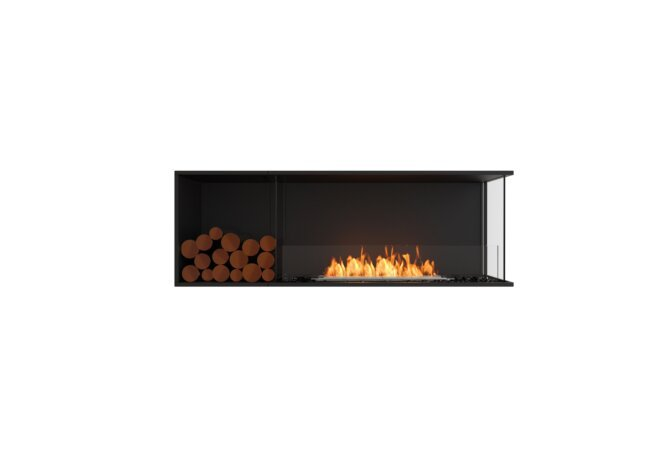 Flex 60RC.BXL Right Corner - Ethanol / Black / Installed View by EcoSmart Fire