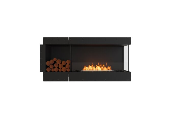 Flex 60RC.BXL Right Corner - Ethanol / Black / Uninstalled View by EcoSmart Fire