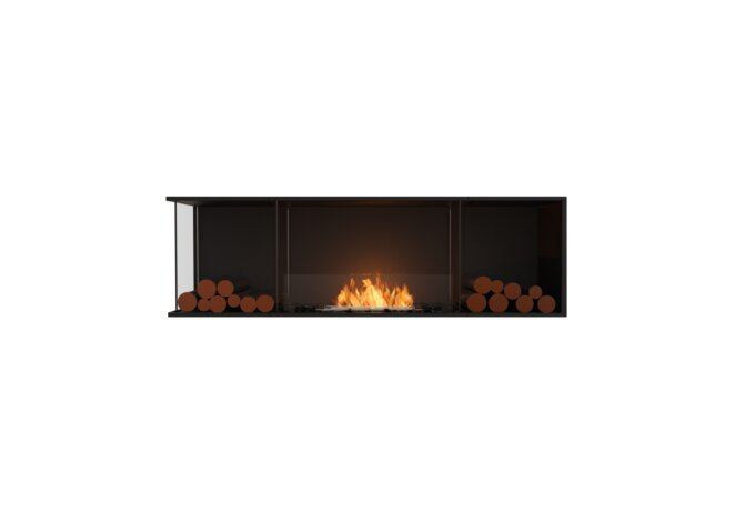 Flex 68LC.BX2 Left Corner - Ethanol / Black / Installed View by EcoSmart Fire